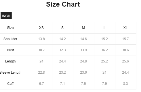 High Neck Fitted Glitter Top Size Chart