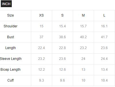 Size Chart SheIn