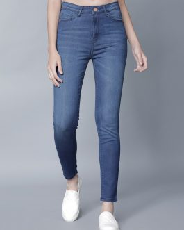 Blue Super Skinny Fit High-Rise Clean Look Jeans