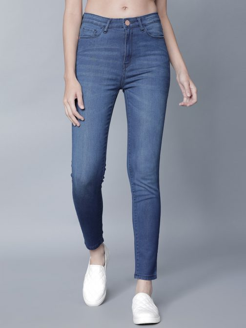 Women Blue Super Skinny Fit High-Rise Clean Look Jeans