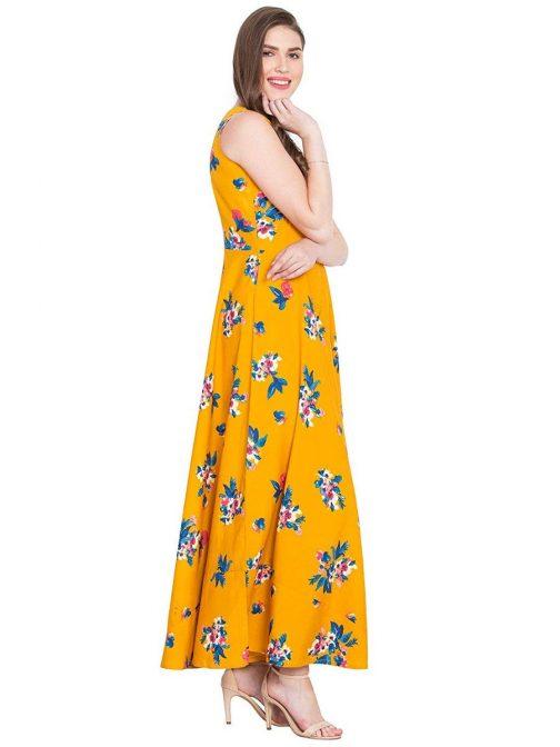 mustard-printed-flared-maxi-dress