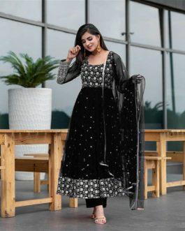 New Designer Embroidered Anarkali Gown