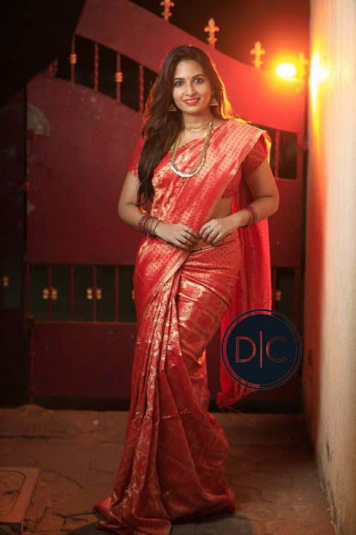Traditional Kanchipuram Reach Red Color Saree