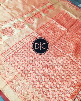Kanchipuram Reach Red Color Saree