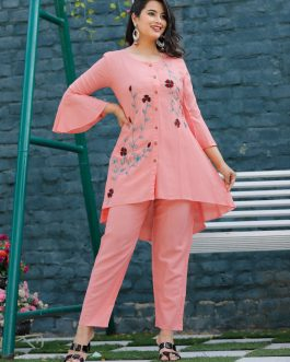 Beautiful Embroidered Top with Pant