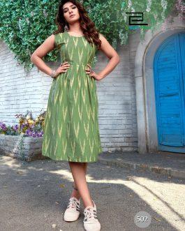 Beautiful Ikat Print Dress