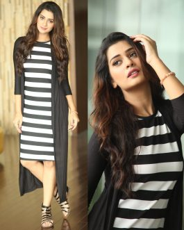 Trendy Dress With Attached Shrug