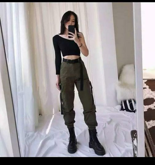 Trendy Import Belt Jogger with Top